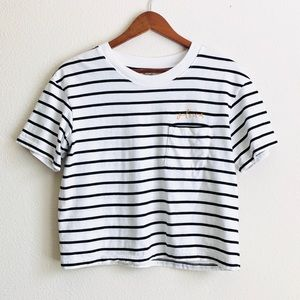 Madewell striped crop top - SMALL